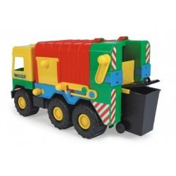 Auto middle Truck popelář plast 41cm Wader v sáčku
