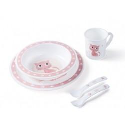 Plastová sada nádobí Cute Animals - Kočička
