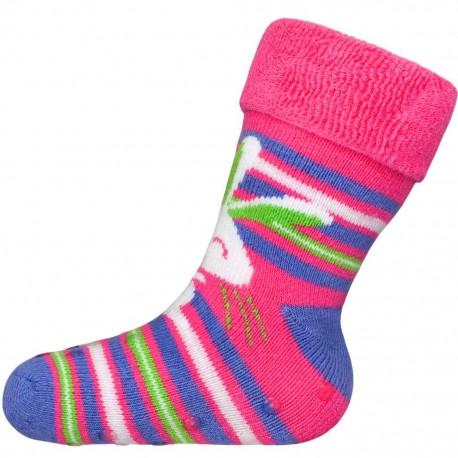 Kojenecké froté ponožky New Baby s ABS růžové králík 3432f103b3