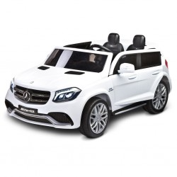 Elektrické autíčko Toyz MERCEDES GLS63 - 2 motory white, Bílá