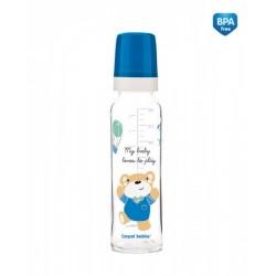 Skleněná lahvička 240ml Sweet Fun  - modrá