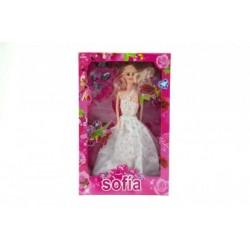 Panenka nevěsta kloubová 28cm plast s doplňky v krabici