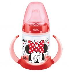 Kojenecká láhev na učení NUK Disney Mickey 150 ml červená, Červená