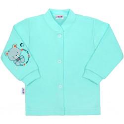 Kojenecký kabátek New Baby teddy tyrkysový, Tyrkysová, 50