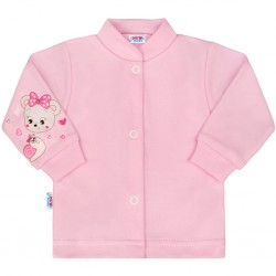 Kojenecký kabátek New Baby myška růžový, Růžová, 50