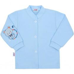 Kojenecký kabátek New Baby teddy modrý, Modrá, 50