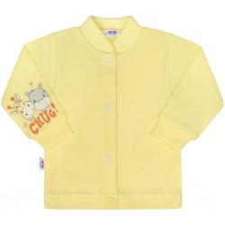 Kojenecký kabátek New Baby chug žlutý, Žlutá, 50