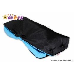 Rukávník ke kočárku Baby Nellys ® flees - černý/modrý