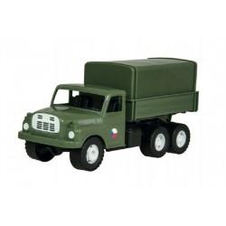 Auto nákladní Tatra 148 khaki vojenská plast 30cm v krabici 35x18x13cm