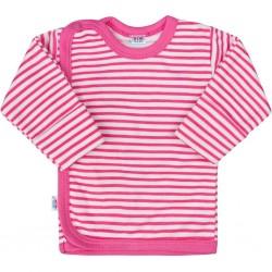 Kojenecká košilka New Baby Classic II s růžovými pruhy, Růžová, 50
