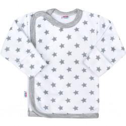 Kojenecká košilka New Baby Classic II šedá s hvězdičkami, Šedá, 68 (4-6m)