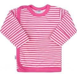 Kojenecká košilka New Baby Classic II s růžovými pruhy, Růžová, 68 (4-6m)