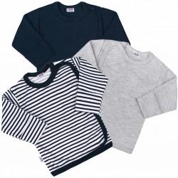 Kojenecká košilka New Baby Classic II Kluk 3ks, Dle obrázku, 68 (4-6m)