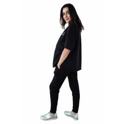 Těhotenské tepláky/kalhoty slim - černé