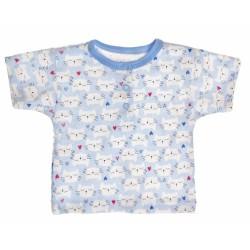 Bavlněné Polo tričko s krátkým rukávem Kočičky - modré