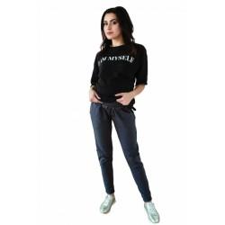 Těhotenské tepláky/kalhoty slim - grafit