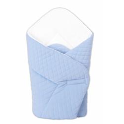 Novorozenecká zavinovačka Velvet prošívaná - modrá