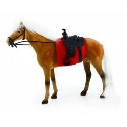Kůň fliska 32 cm hnědo bílý