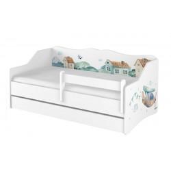 BabyBoo Dětská postel LULU 160 x 80 cm - Letadla