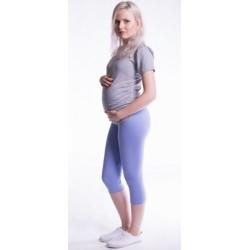 Těhotenské barevné legíny 3/4 délky - světle fialová
