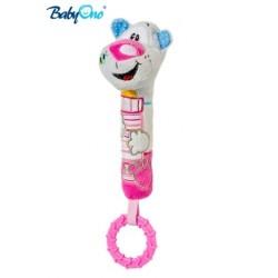 Edukační hračka Baby Ono - pískací s kousátkem  - MEDVÍDEK