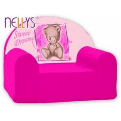 Dětské křesílko/pohovečka Nellys ® - Sweet Dreams by TEDDY - růžová