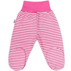Kojenecké polodupačky New Baby Classic II s růžovými pruhy, Růžová, 50