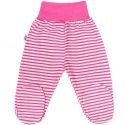 Kojenecké polodupačky New Baby Classic II s růžovými pruhy, Růžová, 68 (4-6m)