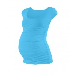 Těhotenské triko mini rukáv JOHANKA - tyrkys