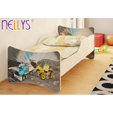 Dětská postel Bagr a náklaďák