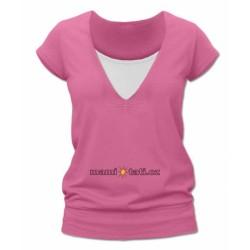 Kojící,těhotenské triko JULIE - růžová