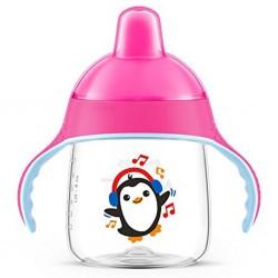 Kouzelný hrneček Avent Premium Pingu 260 ml růžový, Růžová