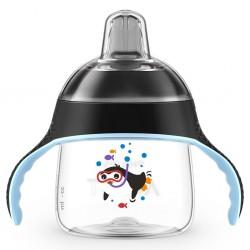 Kouzelný hrneček Avent Premium Pingu 200 ml černý, Černá