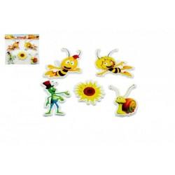 Pěnové dekorace na zeď Včelka Mája Slunečnice 5ks v sáčku