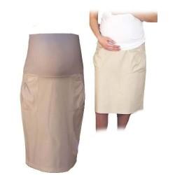 Těhotenská sportovní sukně s kapsami - béžová