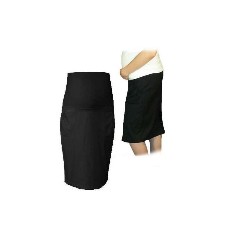 1072c9379a9 Těhotenská sportovní sukně s kapsami - černá - Bezpečné Batole