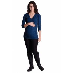 Těhotenské, kojící triko 3/4 rukáv - granát