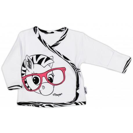 Bavlněná košilka NICOL ZEBRA - bílá