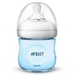 Kojenecká láhev Avent Natural 125 ml modrá, Modrá