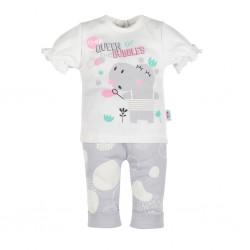 Kojenecké tričko s krátkým rukávem a tepláčky New Baby Queen, Šedá, 62 (3-6m)