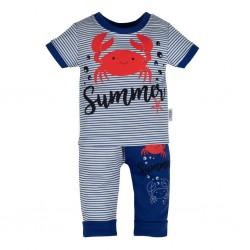 Kojenecké tričko s krátkým rukávem a tepláčky New Baby Summer, Modrá, 62 (3-6m)