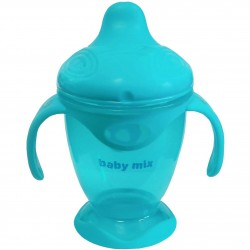 Dětský kouzelný hrneček Baby Mix 200 ml světle modrý, Modrá