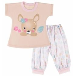 EEVI Dětské pyžamo Family - béžové, vel. 98