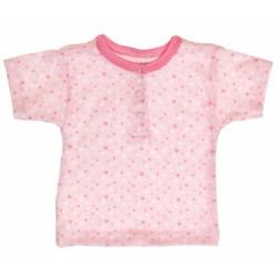 Bavlněné Polo tričko s krátkým rukávem Hvězdičky - růžové