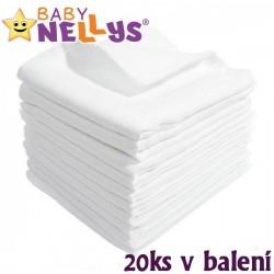Kvalitní bavlněné pleny Baby Nellys - TETRA BASIC 80x80cm, 20ks v bal.