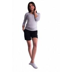 Těhotenské kraťasy s elastickým pásem - černé