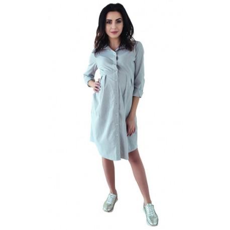 03c3cd817491 Těhotenské šaty tunika dl. rukáv - hnědé - Bezpečné Batole