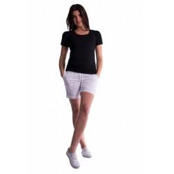 Těhotenské kraťasy s elastickým pásem - bílé