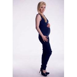 Těhotenské,kojící tilko s odnimatelnými ramínky - navy