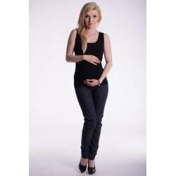 Těhotenské,kojící tilko s odnimatelnými ramínky - černé